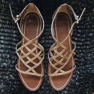 9b3ffaeb1ef58 Tory Burch Shoes - Tory Burch Amalie Patent Leather Cage Sandal